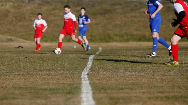 El partido amistoso les sirve de preparación para los próximos juegos isleños que se llevarán a cabo en Gotland, Suecia. Foto: LA NACION / Mauro V. Rizzi