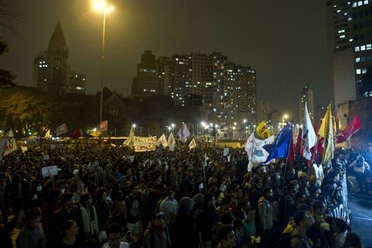 Las protestas paulistas se replicaron en seis grandes ciudades. Foto: AFP