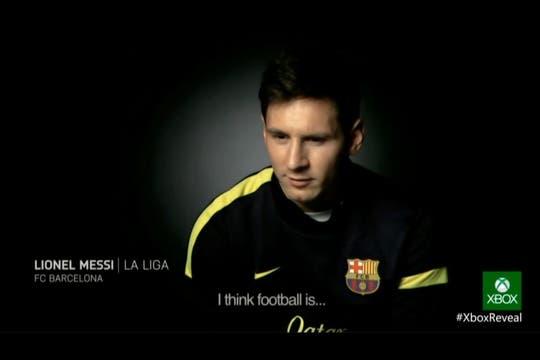 Lionel Messi apareció durante la presentación del FIFA 14 para la nueva Xbox.