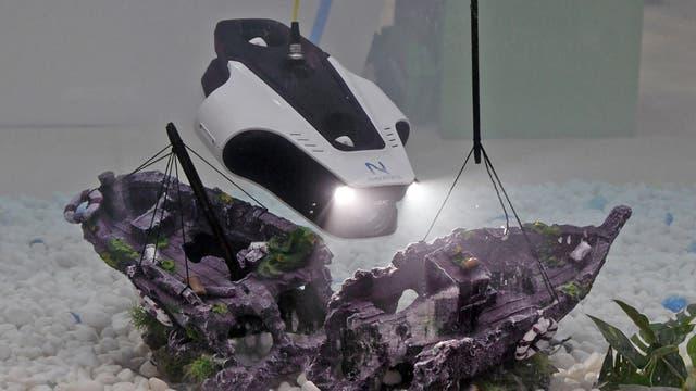 Demostración del robot subacuático Mito, de Navatics