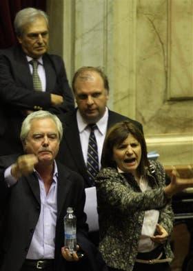Pinedo y Bullrich protestan contra Domínguez por violar el reglamento