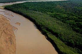 Vista aérea de La Fidelidad, en la inmensidad prístina de El Impenetrable chaqueño