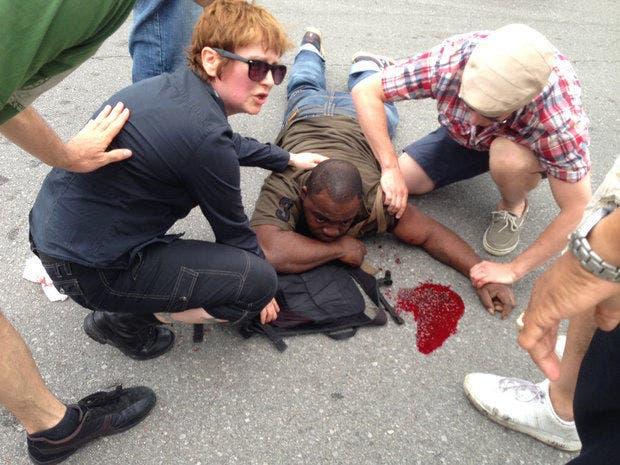 Uno de los heridos durante el desfile por el Día de la Madre en Nueva Orleans
