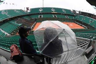 La lluvia le puso un freno al tenis