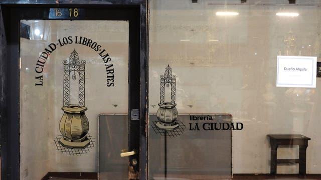 La mítica librería La Ciudad, hoy vacía