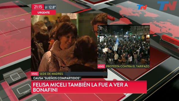 Felisa Miceli acompañó a Hebe de Bonafini