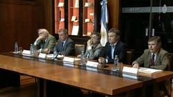 Conferencia de prensa en la AFIP