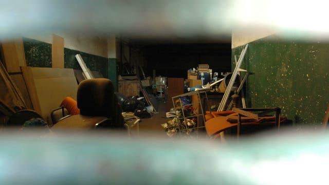 Un depósito que pertenecía a Rímolo, donde se almacenaban medicamentos y documentos, en la localidad bonaerense de Ciudadela