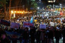 La avenida 9 de Julio, donde se concentró la mayor cantidad de manifestantes