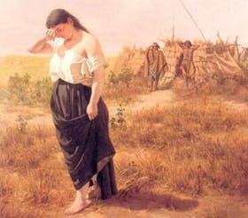 La Cautiva, retratada en 1880 por el pintor uruguayo Juan Manuel Blanes