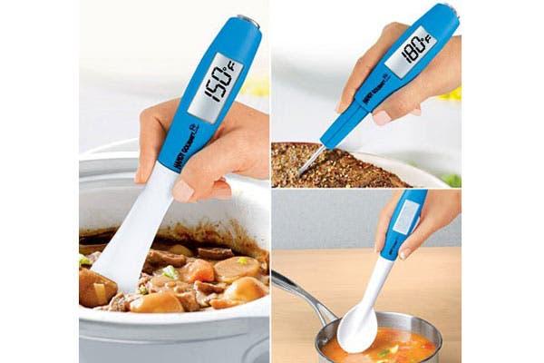 Una cuchara para tomar la temperatura de las comidas. Ideal para las primeras papillas de los más chiquitos de la casa. Foto: harrietcarter.com