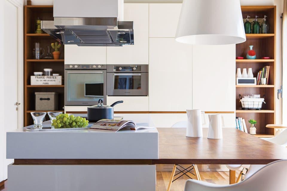 Los muebles tienen dos terminaciones de blanco brillante y mate A su