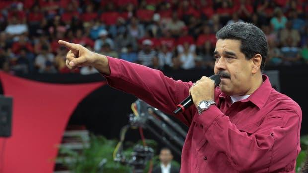 Nicolás Maduro durante el discurso en el que habló de tomar armas y la Corte fue atacada