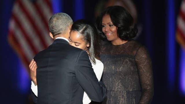 ¿Por qué Sasha, la hija menor de Obama, no fue al último discurso presidencial?