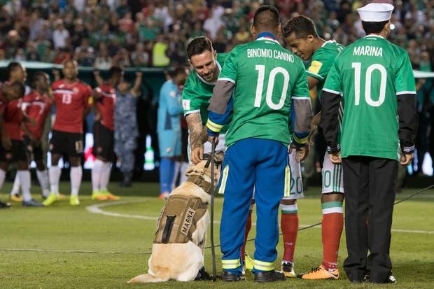 Los jugadores mexicanos con Frida