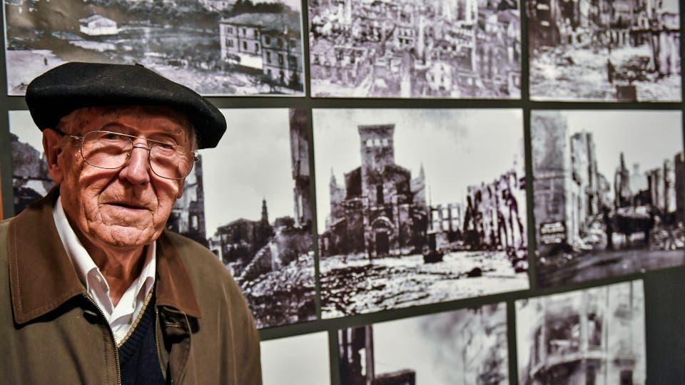 Guernica: se cumplen 80 años de la matanza que inspiró a Picasso, Luis Iriondo, de 94 años, sobreviviente del ataque . Foto: AP / Alvaro Barrientos