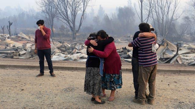 Las 1000 casas de Santa Olga, una localidad de 6000 habitantes, fueron destruidas por el fuego