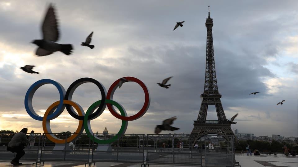 París festeja la realización de los Juegos Olímpicos 2024 en Francia. Foto: AFP / Ludovic Marin