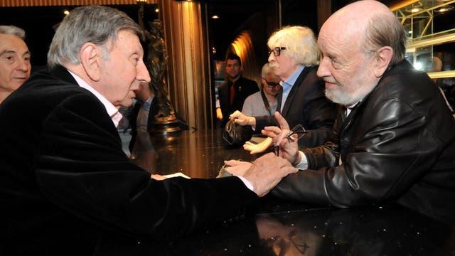 Luis Landriscina junto a Marcos Mundstock