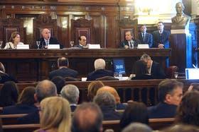 La Corte fue escenario hoy de la segunda jornada de la audiencia pública entre el Gobierno y Clarín por la ley de medios