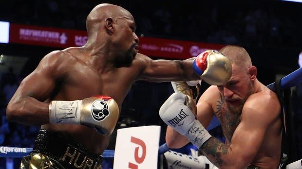 Un Mayweather demoledor a partir del cuarto round