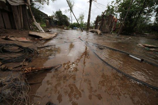 En varias localidades del Chaco, defensa cilvil comienza a tomar precauciones por la llegada del agua. Foto: Télam