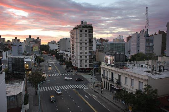 Una postal de la ciudad vacía. Foto: LA NACION / Matías Aimar