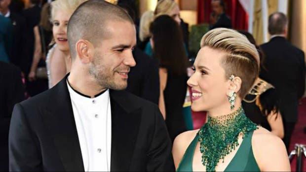 Scarlett Johansson y Romain Dauriac, en mejores épocas