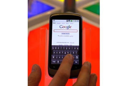 El teclado virtual del teléfono de Google. Foto: AP