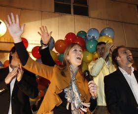 María Eugenia Vidal, anoche, en un local de Pro donde celebraron su nominación