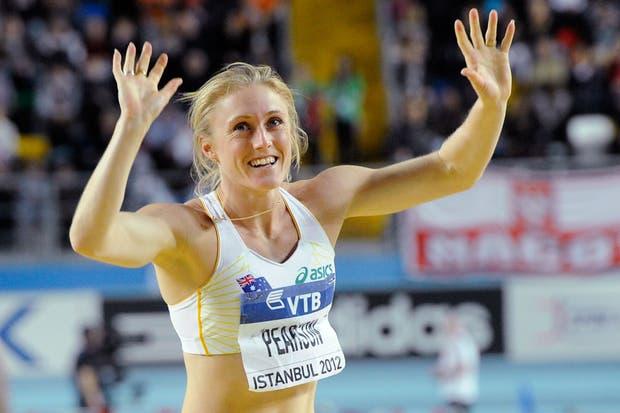 La australiana Sally Pearson, ganadora de los 60 metros con vallas.  Foto:AFP /AP, Reuters y EFE