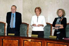Los doctores José Osvaldo Casás, Ana María Conde y Alicia E. C. Ruiz integran el cuerpo junto al doctor Luis F. Lozano