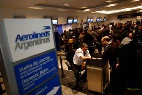 Operaciones de Aerolíneas en el Aeroparque metropolitano de Buenos Aires