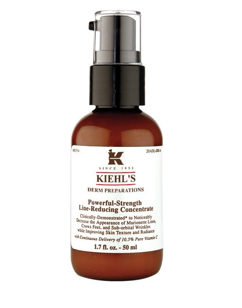 Powerful-strengh line reducing concentrate. Con vitamina C pura, reduce la aparición de arrugas y mejora la piel ($478, Kiehl´s)..