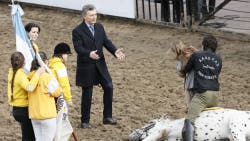Antonia Macri participó de un ritual de La Rural