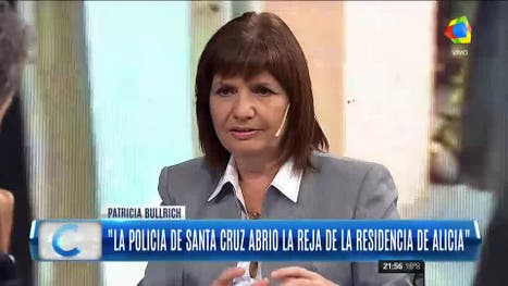 Patricia Bullrich desminitió los dichos de Cristina Kirchner sobre los incidentes en Santa Cruz