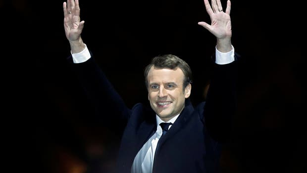 Emmanuel Macron, tras el triunfo
