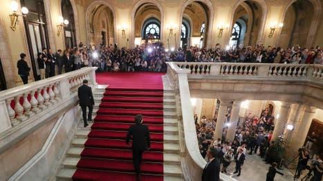 Se espera el discurso de Puigdemont