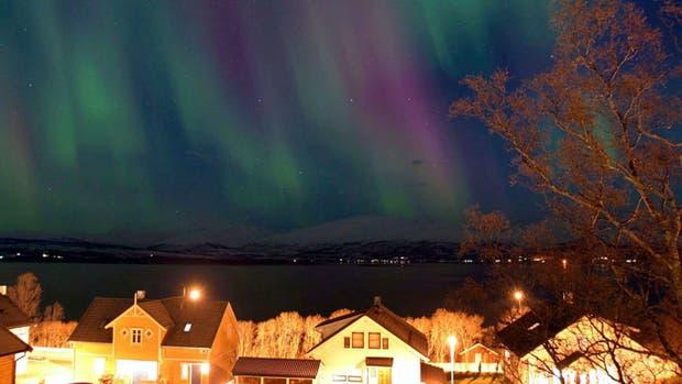 Una tormenta magnética provoca una aurora boreal en Noruega
