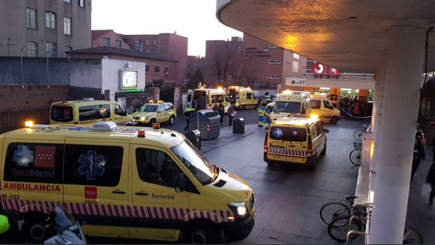 Choque de tren en Madrid: 39 heridos, dos en grave estado