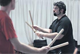 El músico es un gran difusor de los tambores japoneses en la Argentina