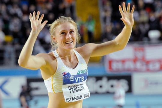 La australiana Sally Pearson, ganadora de los 60 metros con vallas. Foto: AFP / AP, Reuters y EFE
