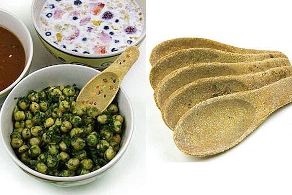 Cucharas comestibles hechas de maíz que pueden ser dulces o saladas. ¿Las sumarías a tu plato?. Foto: Nopuedocreer.com