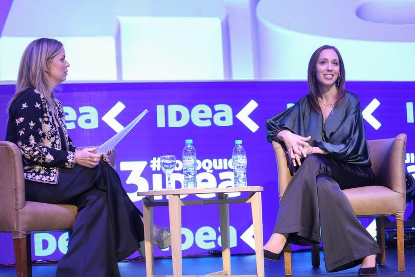 María Eugenia Vidal es entrevistada por Rosario Altgelt, CEO de Latam. Foto: Mauro V. Rizzi