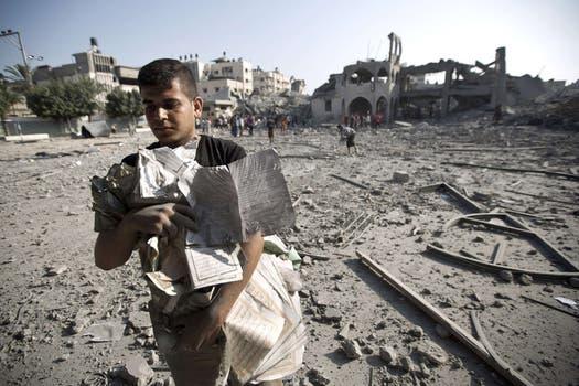 Más de 120 palestinos murieron durante los bombardeos tras el fracaso de la tregua. Foto: AFP
