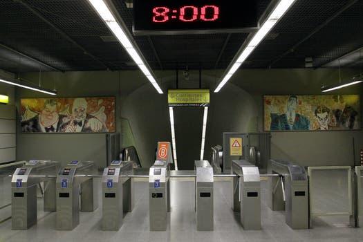 La línea B sin servicio entre las 5 y las 8 de la mañana. Foto: DyN
