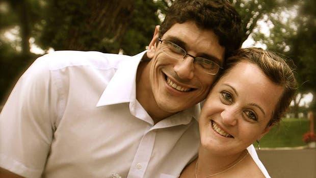 Cecilia y Javier, recién casados