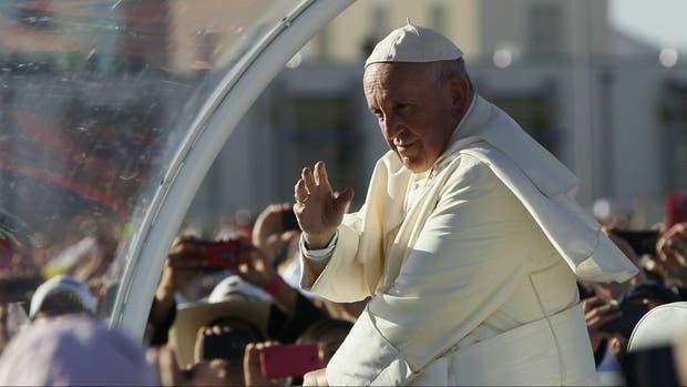 El papa Francisco durante su gira por México