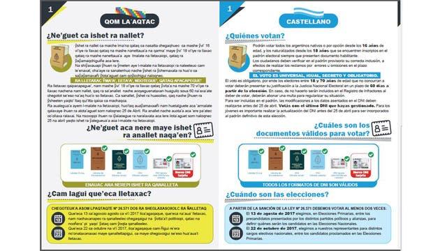 Similares a estos folletos de la Escuela de Capacitación Electoral, serán los que entregue la DINA a través del INAI