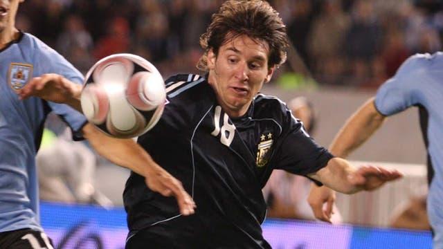 Lionel Messi en el clásico de 2008